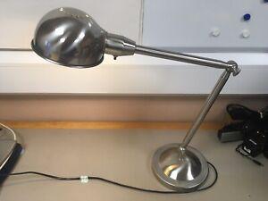 IKEA nickel desk lamp with adjustable arm