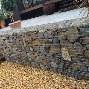 Galvanized Steel Gabion Stone Basket Retaining Wall Garden Wire Pot Cage Privacy