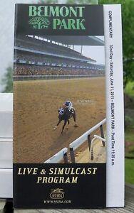 2011 Belmont Stakes Pocket Size Program Secretariat 1973 Belmont Cover