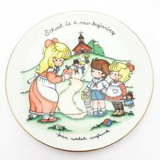 Joan Walsh Anglund 1986 Small Decorative Plate School Is a New Beginning Avon