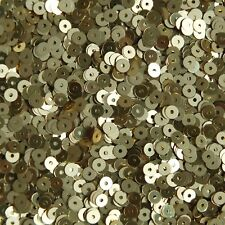 4mm Round Flat Sequins Gold Duo Reversible Matte and Shiny Metallic Reversible
