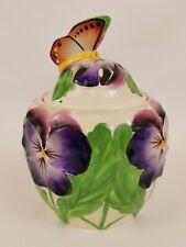 Minton Butterfly Lidded Pot Pourri Jar Designed By Reginald Haggar (c)1935