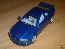 Nissan R-34 GT-R GTR Skyline Blue 1:36 Pullback Drift