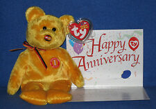 TY MC MASTERCARD ANNIVERSARY #1 BEAR with CARD - MINT with MINT TAGS