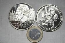 MONEDÓN  10 ECU   JOHAN RUDOLF THORBECKE(1798-1872)  1998 SIN CIRCULAR FOTO