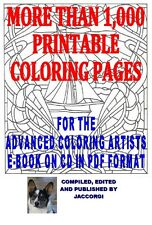1,000+ Printable Coloring Pages on CD, Mandalas, Geometric Designs, Fantasy