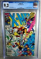 X-Men #3 NEWSSTAND - Marvel 1991 CGC 9.2 NM- White Pages - Comic K0154