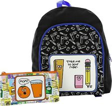 David And Goliath Black Backpack And 3 Pocket Pencil Case Set Stupid Factory New