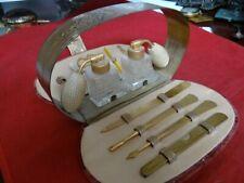 New ListingVery Fine Vintage Griffon Travel Manicure Set With Holmspray Perfume Bottles