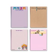 Fun To-Do-List Writing Pads – 4 Assorted Pads – 4.25