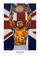 Anthony Joshua World Champion Art Print por el arte de Killian