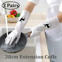 Reusable Kitchen Cleaning Gloves high quality PVC Non- Slip 3 packs