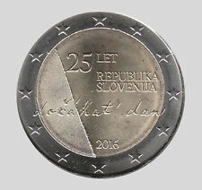 Slovenia 2016 - 2 Euro Comm - Slovenia's 25th Anniversary of Independence (UNC)