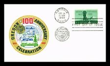 DR JIM STAMPS US OREGON STATEHOOD CENTENNIAL FIRST DAY COVER UNSEALED