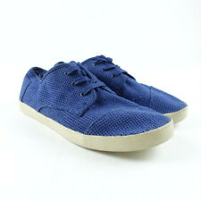 TOMS Womens Size 10 Perforated Suede Lace Up Blue Shoes