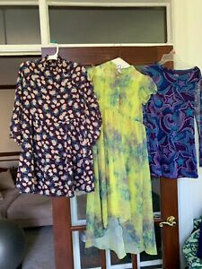 Cute Lot of 2 Dresses & Evening Blouse for Girl - 10/12/L/14 ( Justice/D- signed