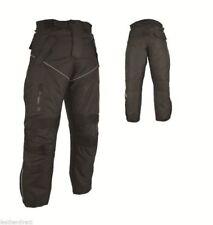 MOTO Pantaloni impermeabili CE RINFORZATO NERO motocicletta cordura termici