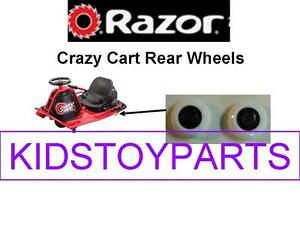 Razor Red Framed Crazy Cart Rear Wheels - 2 pack