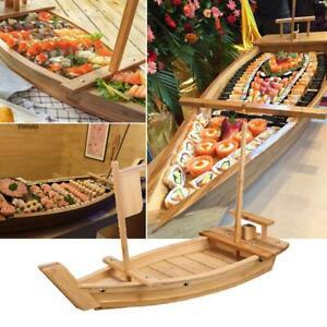 Wooden Japanese Sashimi Sushi Boat Plate Serving Tray 50cm New