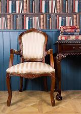 Französisch Louis Sessel Mahagoni Gold Shabby Chic Schlafzimmer Antiker Stil