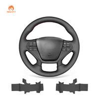 Top Durable Black PU Leather Steering Wheel Cover for Hyundai Sonata 9 2015-2017
