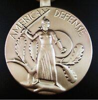 WW2 U.S. AMERICAN DEFENSE MEDAL ORDER , ARMY, NAVY, AIR FORCE