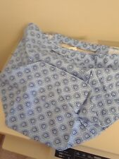 Longaberger Oval Waste Basket Med Blue Provincial Paisley Fabric OE Liner