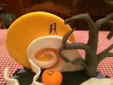 Custom Edible Nightmare Before Christmas Moon/Mountain Cake Topper Jack/Sally 3D