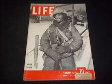 1945 FEBRUARY 26 LIFE MAGAZINE - WINTER SOLDIER - FRONT COVER - J 1779