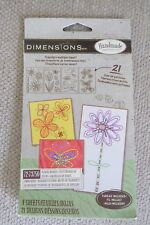 Dimensions Handmade Embroidery Kit with 21 iron on transfer patterns, fabric & t