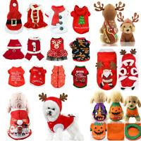 2019 Christmas Halloween Puppy Dog Cat Clothes Santa Coat Pet Apparel Costumes