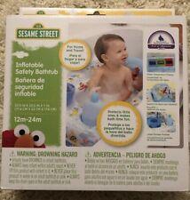 Sesame Street Inflatable Safety Bathtub 12-24m Water Temperature Display Elmo