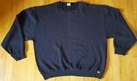 Vintage RUSSELL sweatshirt L navy blue crewneck 80s 90s long sleeve athletic