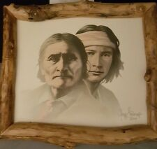 Geronimo original oil & acrylic painting by Gary Saderup with COA