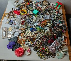 Joblot Over 10KG Mixed Costume jewellery Crafting