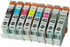 8 PK Compatible Canon CLI-42 Cartridges Complete Set for PIXMA Pro-100