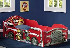Paw Patrol Wood Toddler Bed Firetruck For Kids Boys Girls Furniture New