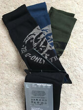 Diesel 'Only The Brave' Mohawk Mens Socks 3 Pair Pack - Size 8.5-11