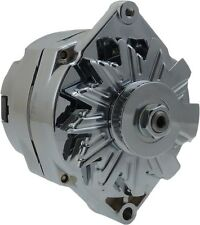 120A CHROME STREET ROD GM HIGH OUTPUT ALTERNATOR 1 ONE WIRE  7127SE-110-C