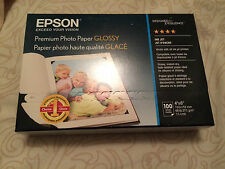 "BNIB 100 Epson Premium Photo Paper 4"" X 6"" Glossy"