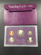 Includes Original Government Packaging Ships for Free!! 1985 Proof Set