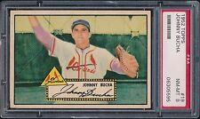 1952 Topps #19 Johnny Bucha PSA 8 NM-MT (Only 1 PSA 9) St. Louis Cardinals