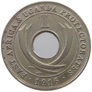 EAST AFRICA 1 CENT 1916 #s70 443