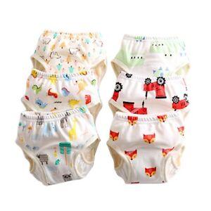 Cute Baby Diaper Pants Washable Diaper Pants Cotton Toddler Kids Training Pants