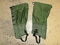 Paire de guêtre vertes en Gore-Tex de l'Armée Hollandaise Neuves