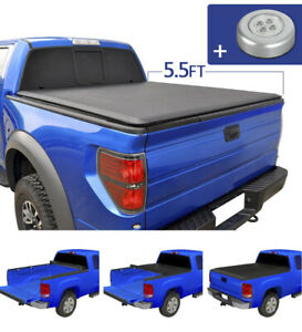 JDMSPEED Roll Up  Soft Tonneau Cover for 2004-2018 Ford F-150 5.5' Short Bed