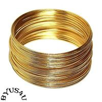 MEMORY WIRE 18g HEAVY DUTY 1mm choose plating 2.25 BRACELET SIZE 12 loops