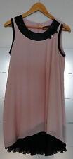 Kleid Abendkleid Partykleid Gr. S nude/ rosé, schwarz, ausgefallener Schnitt NEU