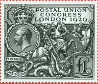 1929 £1 PUC. SG.438. A super unmounted mint Royal Mail official reproduction.