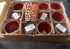 BULK Tea Lights Votive Glasses Box of 12 Pink Glass  New Nice for Wedding Party